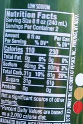 Johnson City Gold nutrition facts